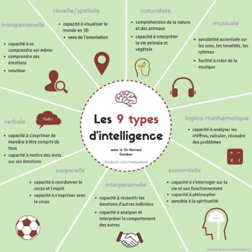 Les 9 intelligences selon Howard Gardner